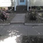 sidewalk concrete curbing