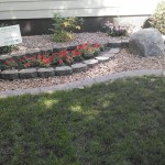 decorative gray concrete curbing