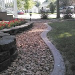 stamped concrete edging