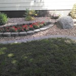 concrete curbing flower bed