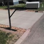 designer concrete curbing